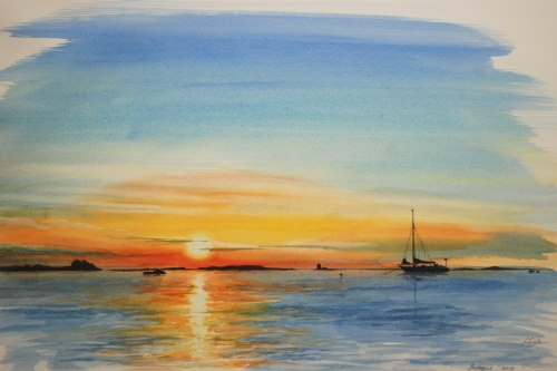 Bretonse zonsondergang